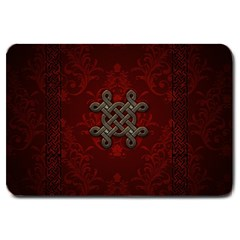 Decorative Celtic Knot On Dark Vintage Background Large Doormat