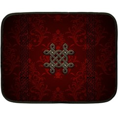 Decorative Celtic Knot On Dark Vintage Background Double Sided Fleece Blanket (mini)