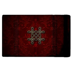 Decorative Celtic Knot On Dark Vintage Background Apple Ipad 3/4 Flip Case by FantasyWorld7
