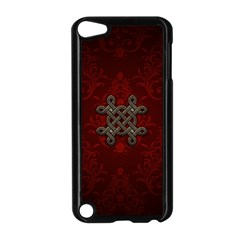 Decorative Celtic Knot On Dark Vintage Background Apple Ipod Touch 5 Case (black) by FantasyWorld7