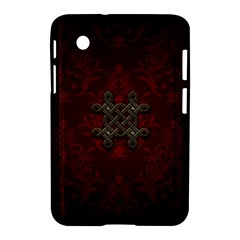 Decorative Celtic Knot On Dark Vintage Background Samsung Galaxy Tab 2 (7 ) P3100 Hardshell Case  by FantasyWorld7