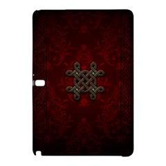 Decorative Celtic Knot On Dark Vintage Background Samsung Galaxy Tab Pro 10 1 Hardshell Case by FantasyWorld7