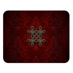 Decorative Celtic Knot On Dark Vintage Background Double Sided Flano Blanket (large)  by FantasyWorld7