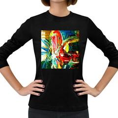 Red Aeroplane 2 Women s Long Sleeve Dark T Shirts