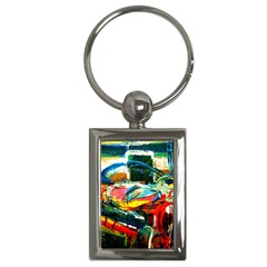 Red Aeroplane 3 Key Chains (rectangle)