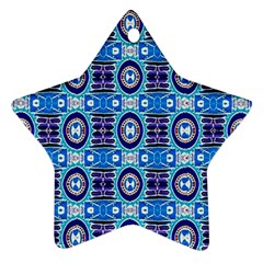 E 6 Star Ornament (two Sides)