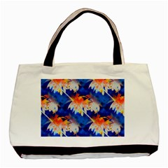 Palm Trees Tropical Beach Sunset Basic Tote Bag by CrypticFragmentsColors