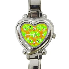 Coconut Palm Trees Caribbean Vibe Heart Italian Charm Watch