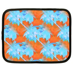 Coconut Palm Trees Tropical Dawn Netbook Case (xxl)