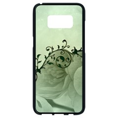 Elegant, Decorative Floral Design In Soft Green Colors Samsung Galaxy S8 Black Seamless Case
