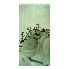 Elegant, Decorative Floral Design In Soft Green Colors Shower Curtain 36  X 72  (stall)