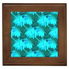 Coconut Palm Trees Caribbean Sea Framed Tiles