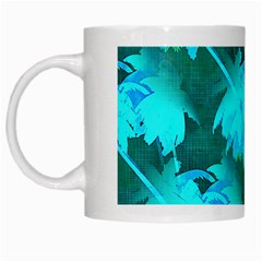 Coconut Palm Trees Caribbean Sea White Mugs