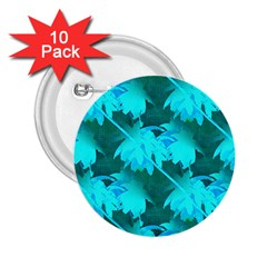 Coconut Palm Trees Caribbean Sea 2 25  Buttons (10 Pack)