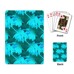 Coconut Palm Trees Caribbean Sea Playing Card