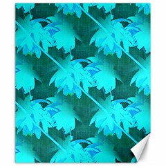 Coconut Palm Trees Caribbean Sea Canvas 20  X 24