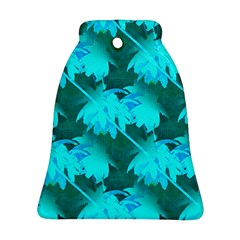 Coconut Palm Trees Caribbean Sea Bell Ornament (two Sides)