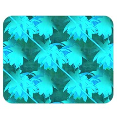 Coconut Palm Trees Caribbean Sea Double Sided Flano Blanket (medium)