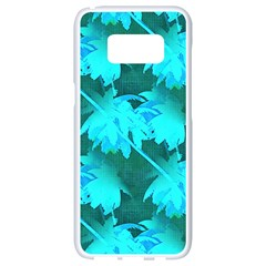 Coconut Palm Trees Caribbean Sea Samsung Galaxy S8 White Seamless Case