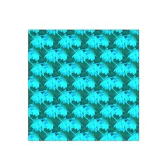 Coconut Palm Trees Blue Green Sea Small Print Satin Bandana Scarf by CrypticFragmentsColors