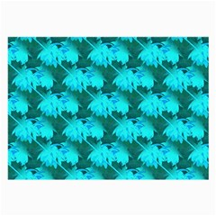 Coconut Palm Trees Blue Green Sea Small Print Large Glasses Cloth (2 Side)