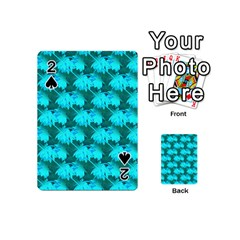 Coconut Palm Trees Blue Green Sea Small Print Playing Cards 54 (mini)