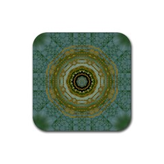 Modern Fantasy Rococo Flower And Lilies Rubber Coaster (square)