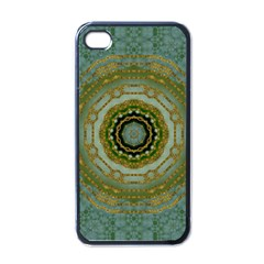 Modern Fantasy Rococo Flower And Lilies Apple Iphone 4 Case (black) by pepitasart