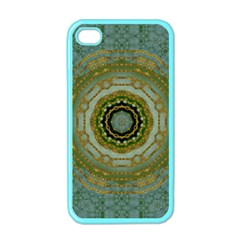 Modern Fantasy Rococo Flower And Lilies Apple Iphone 4 Case (color) by pepitasart