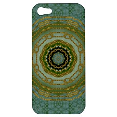 Modern Fantasy Rococo Flower And Lilies Apple Iphone 5 Hardshell Case