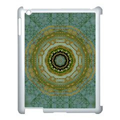 Modern Fantasy Rococo Flower And Lilies Apple Ipad 3/4 Case (white) by pepitasart