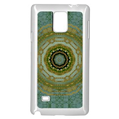 Modern Fantasy Rococo Flower And Lilies Samsung Galaxy Note 4 Case (white)