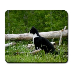 Farm Cat Large Mousepads