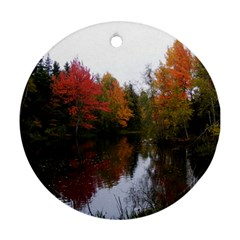 Autumn Pond Ornament (round)
