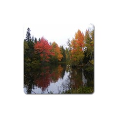 Autumn Pond Square Magnet by IIPhotographyAndDesigns