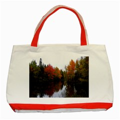 Autumn Pond Classic Tote Bag (red)