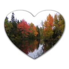 Autumn Pond Heart Mousepads