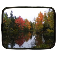 Autumn Pond Netbook Case (xl)