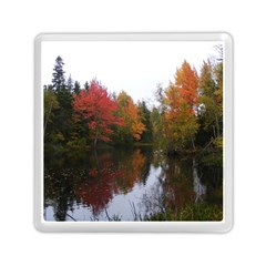 Autumn Pond Memory Card Reader (square) by IIPhotographyAndDesigns