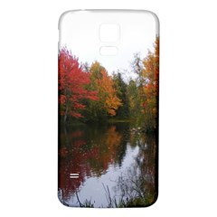 Autumn Pond Samsung Galaxy S5 Back Case (white) by IIPhotographyAndDesigns