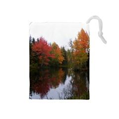 Autumn Pond Drawstring Pouches (medium)