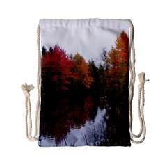 Autumn Pond Drawstring Bag (small)