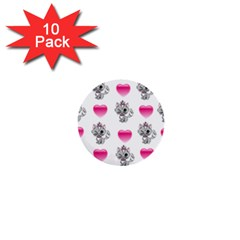 Evil Sweetheart Kitty 1  Mini Buttons (10 Pack)  by IIPhotographyAndDesigns