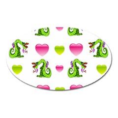 Dragons And Hearts Oval Magnet by IIPhotographyAndDesigns