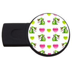 Dragons And Hearts Usb Flash Drive Round (2 Gb) by IIPhotographyAndDesigns
