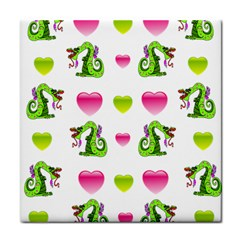 Dragons And Hearts Face Towel