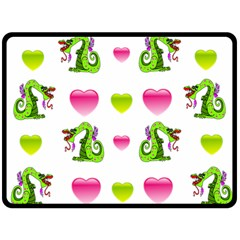 Dragons And Hearts Fleece Blanket (large)  by IIPhotographyAndDesigns