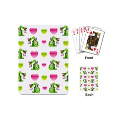 Dragons And Hearts Playing Cards (mini)  by IIPhotographyAndDesigns
