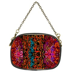 Retro Multi Colors Pattern Created By Flipstylez Designs Chain Purses (one Side)
