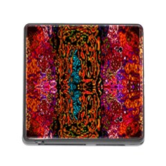 Retro Multi Colors Pattern Created By Flipstylez Designs Memory Card Reader (square 5 Slot)